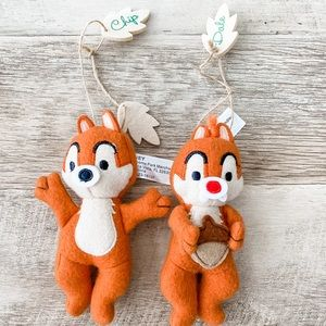 Disney Holiday - Chip and Dale Cloth Christmas Ornaments